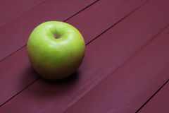 Green apples on old wood table. Healthy food. Green apples on old wood table Royalty Free Stock Photos