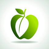 Green apples organic food concept Stock Photos