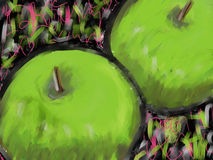 Green Apples Painting Royalty Free Stock Photo