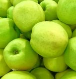 Green apples pattern. Juicy green apples-a storehouse of vitamins Stock Images