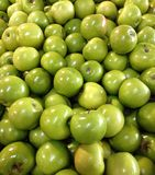 Green apples. A pile of green apple Stock Photo