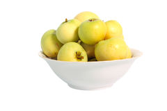 Green apples in plate Royalty Free Stock Photo