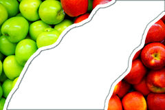 Green apples and red apples background royalty free stock photography