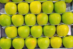 Green apples for sale Royalty Free Stock Image