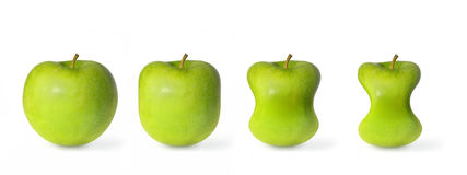Green apples slimming isolated on white background Stock Image