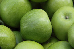 Green apples. Stock of delicious green apples Stock Photos