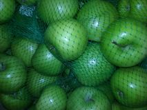 Green apples in the store ready to eat Royalty Free Stock Image