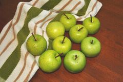 Green apples tablescape Royalty Free Stock Photo