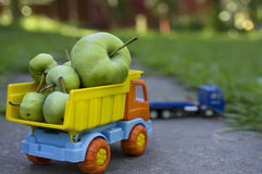 Green Apples In Truck Royalty Free Stock Image