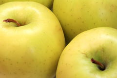 Green apples. Up close shot of green apples Stock Photography