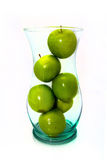 Green Apples in Vase aka Fruitbowl Royalty Free Stock Photos