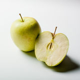 Green apples on white background Royalty Free Stock Photography