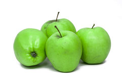 Green Apples. On white background isolated Stock Photo