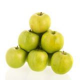 Green apples on white background Royalty Free Stock Photos