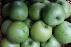 Green Apples at the Market stock photos
