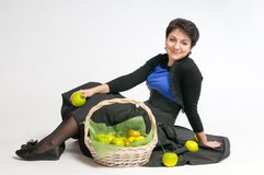 With green apples Stock Photography