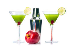 Green Appletini cocktail Stock Image