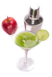 Green Appletini cocktail. Royalty Free Stock Photography
