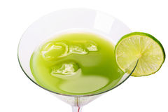 Green Appletini cocktail Royalty Free Stock Photo