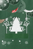Green applique New Year Card Royalty Free Stock Photo