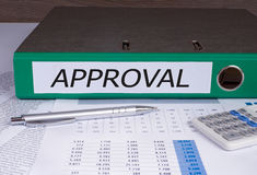 Green Approval Binder Royalty Free Stock Image