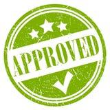 Green approved vector stamp. Illustration vector illustration