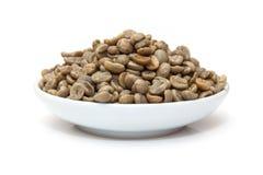 Green Arabica coffee beans  Royalty Free Stock Photo