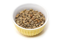 Green Arabica coffee beans Royalty Free Stock Photography