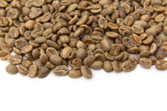 Green Arabica coffee beans Royalty Free Stock Image