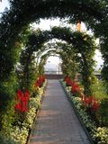 Green arch. Garden in Graz Stock Photos