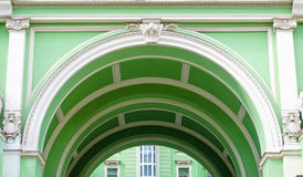 Green arch classical architecture urban view. Green arch classical architecture a urban view Royalty Free Stock Photos