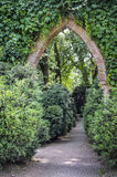 Green arch. Garden green arch entry gate Royalty Free Stock Images