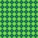 Green Argyle Pattern. Background illustration of light and dark green argyle with lines of bright white dots Stock Photos