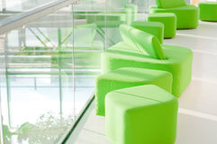 Green armchair Stock Images