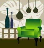 Green armchair Stock Photo
