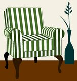 Green armchair Royalty Free Stock Images