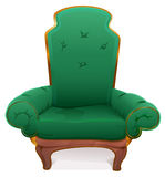 Green armchair. Cushioned furniture Stock Images