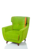 Green armchair on the white Royalty Free Stock Images