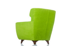 Green armchair on the white Stock Photo