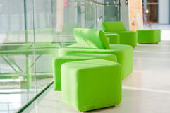 Green armchairs Stock Photo