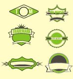 Green arming. Graphic design six different arms of Royalty Free Stock Photography