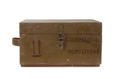 Green army box of ammunition Royalty Free Stock Photo