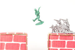 Green Army Man Escapes Stock Image