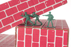 Green Army Men Teamwork Royalty Free Stock Photography
