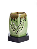 Green aroma lamp Stock Images