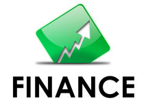 Green arrow. Halway in ground, financial concept Stock Photo