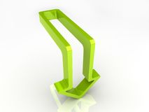 Green arrow. Illustration of green arrow (down Royalty Free Stock Image