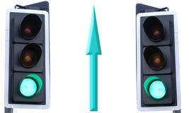 Green arrow. Pointing the way to success Stock Photos