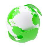 Green arrow around the earth Royalty Free Stock Photography