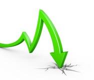 Green arrow collapse vector illustration
